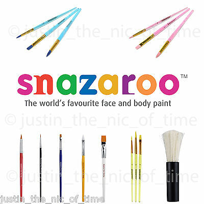 Genuine SNAZAROO BRUSHES Professional Make up Face Paint
