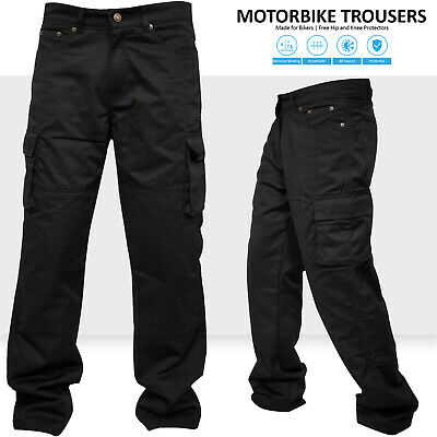 Motorbike Motorcycle Work Cargo Trousers Jeans Pants With Protective Lining