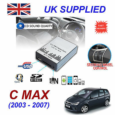 New Ford CMAX MP3 SD USB CD AUX Input Audio Adapter Digital CD Changer Module