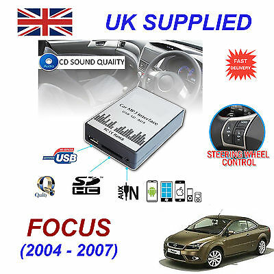 New Ford FOCUS MP3 SD USB CD AUX Input Audio Adapter Digital CD Changer Module