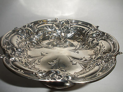 Vintage Sterling Reed & Barton LES SIX FLEURS FOOTED BOWL  X 279  139.6gr
