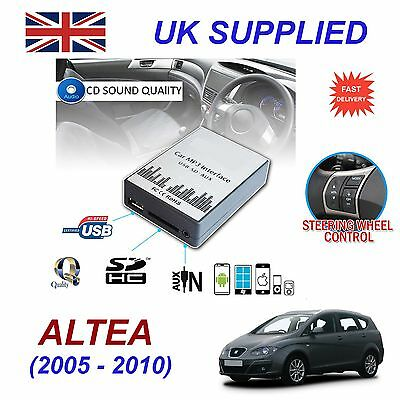 Seat ALTEA 05-10 MP3 SD USB CD AUX Input Audio Adapter Digital CD Changer Module