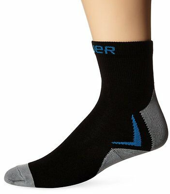 New Bauer Hockey Core Performance Low Compression Fit Ice Skate Socks Blck/Gry