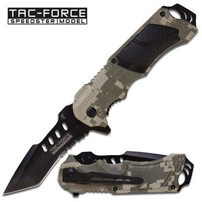 Digital Camo Assisted Opening Knife by Tac Force - FAST SHIPPING! TF-690TC