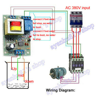 AC 380V Auto Liquid Level Controller Switch Module Water Level Detection Sensor