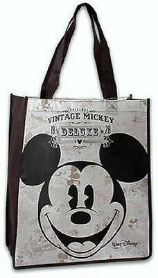 New Vintage Disney Mickey Mouse Reusable Grocery Tote Handbag *With Tags