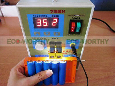 788H 60A LED Dual Pulse Battery Spot Welder Machine 18650 Battery Charger 220V