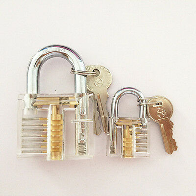 Pick Cutaway Inside Padlock Transparent Lock For Locksmith Practice Training L/S