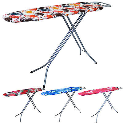 Deluxe Large Wide Ironing Board Height Adjustable Iron Rack Folding Light Frame
