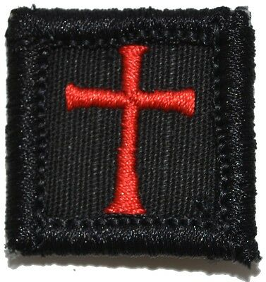 Knights Templar - 1x1 Military/Morale Patch with Hook Fastener