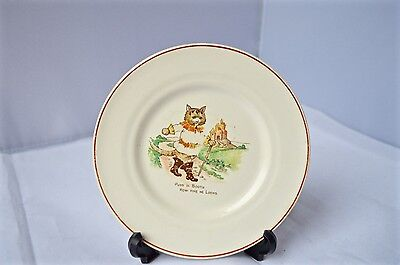 Rare Small Puss in Boots Child's Nursery Rhyme Plate Vintage