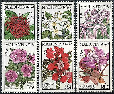 Maldive Islands 1987 SG#1226-1231 Flowers MNH Set #D3405