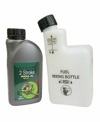 500ML Of 2 Stroke Oil & Fuel Petrol Mixing Bottle Ideal For Husqvarna Chainsaw