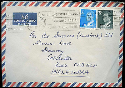 Spain 1983 Commercial Airmail Cover To England #C31443