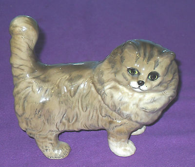 VINTAGE RETRO 1960s BESWICK PERSIAN CAT STANDING No 1898 IN BROWN AND GREY GLOSS
