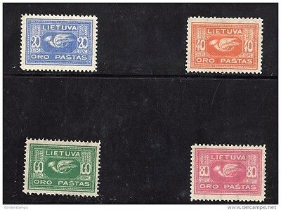 Lithuania 1922 Airmail Set MH