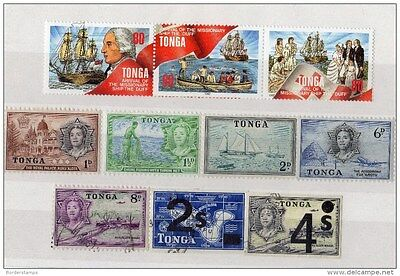 Tonga Mixed Collection of 10 values MH/VFU