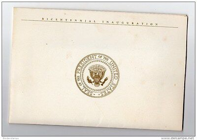 United States 1989 Bicentenial Inaguration Folder with 1 Postcard &6 covers Mint