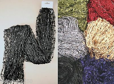 Pack Of 6 Crochet Chenille Scarves : 0811 Pk6
