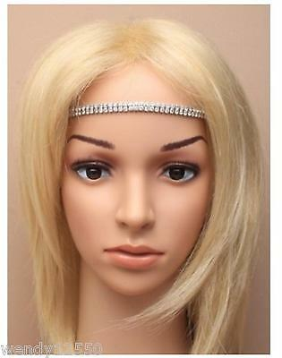 Pack Of 6 Cyrstal Diamante 2-Row Brow Bands / Bandeaux, Wedding : Sp-5760 Pk6