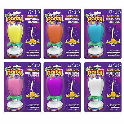 Amazing Musical Rotating Lotus Flower  Birthday Candle Party Sparkling Fountain