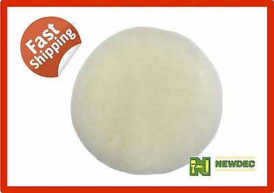 "Buff Pad Sheepskin 7"" 178Mm Australian Cut Buffer Polisher Wool Auto Car Wax"