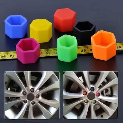 20Pcs 17/19/21mm Silicone Wheel Lug Nut Bolt Hub Screw Cover Tyre Protective Cap