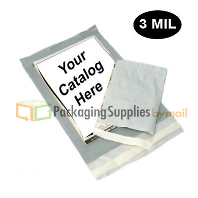500 9x12 3 Mil Clear View Poly Mailer Shipping Mailing Self Seal Envelope Bags