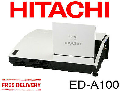 Hitachi Ed-A100 3Lcd Projector Low Hours Multi Media Short Throw Beamer Cheap