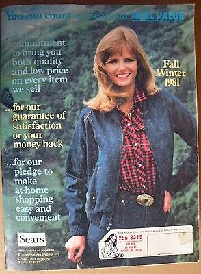 SEARS 1981 Fall And Winter Large Original Vintage Catalog With Free Shipping