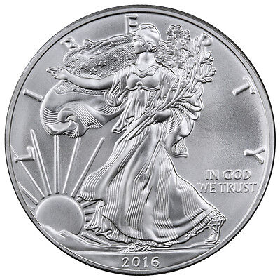 2016 1 Troy Oz .999 Fine American Silver Eagle Coin SKU38282