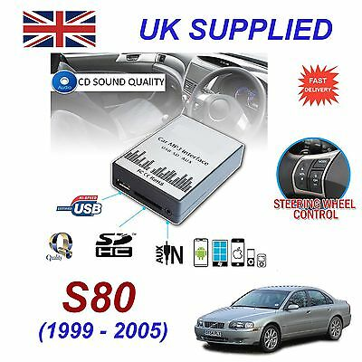 For VOLVO S80 99-05 MP3 SD USB CD AUX Input Audio Digital CD Changer Module