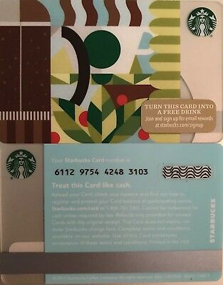 "2015 Starbucks ""coffee Press"" Gift Card No Value Mint"