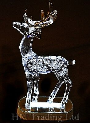 28cm Acrylic Deer White LED Light Christmas Window Decoration Ornament Reindeer
