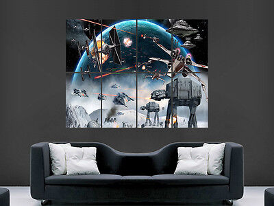 Star Wars The Force Awakens Movie Wall Poster Art Picture Print Large