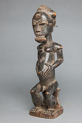 Baule, Seated Male Ancestor Figure, Ivory Coast, African Tribal Arts.