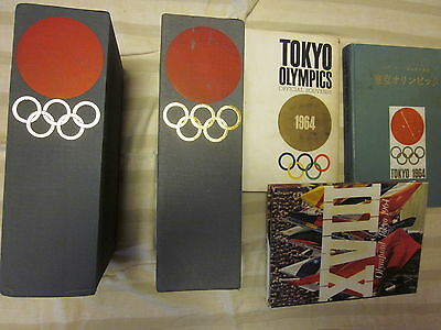 Tokyo Olympic 1964 official report in English + Japanese (2 report sets) + estra