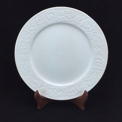 Farberware Calais 4173 Dinner Plate Dinnerware 10.5\  White Gold Trim : white and gold dinnerware - pezcame.com