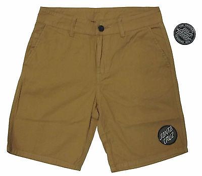 SANTA CRUZ - Classic Patch Walkshorts (Shorts) Dark Sand - SIZE 30 - NEW