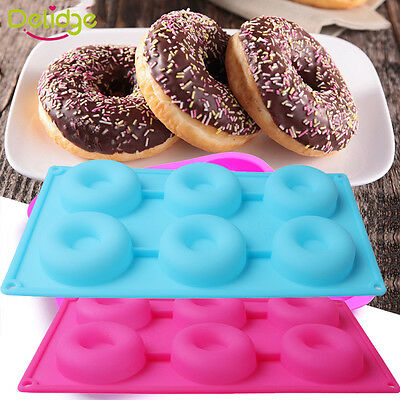 Silicone Donut Doughnut Cake Mould Chocolate Soap Candy Jelly Mold Baking Pan
