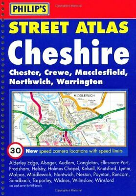 Philip's Street Atlas Cheshire: Spiral Edition (Phili... by Philips Spiral bound