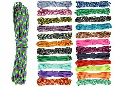30/100m 100/328ft 550 Paracord 7 Core Parachute Cord Lanyard Mil Spec Type III