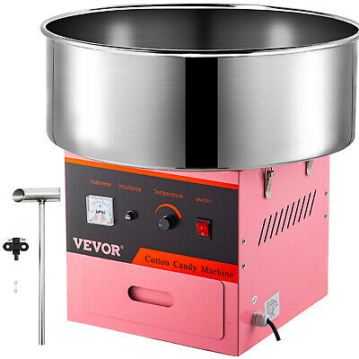 Electric Commercial Cotton Candy Machine / Floss Maker Pink VEVOR CANDY-V001
