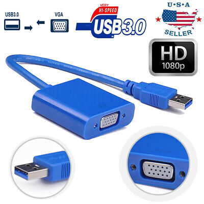 USB 3.0/2.0 to VGA Multi-display Adapter Converter External Video Graphic Card