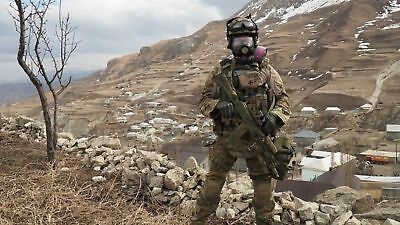 Russian GP-21 panoramic gas mask (police version of military PMK-5)