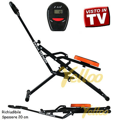 New TOTAL FITNESS IL MIGLIORE Body CRUNCH Palestra Panca Power Braccia Glutei
