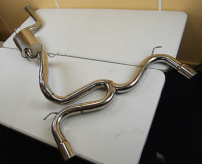 Ford Focus Mk2 St225 Stainless Steel Twin Tailpipe Exhaust System From Cat