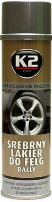 K2 | Silver Alloy Wheel Lacquer | Metalic Silver Paint Spray 500ml