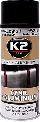 K2 | Professional Zinc And Aluminium Coating Spray | Corrosion Protection| 400ml