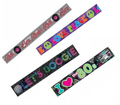 Decade Party FOIL PARTY BANNER {7.6m} (50s/60s/70s/80s)
